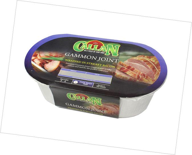 Frozen Range Gammon Joint Wrapped Streaky Bacon