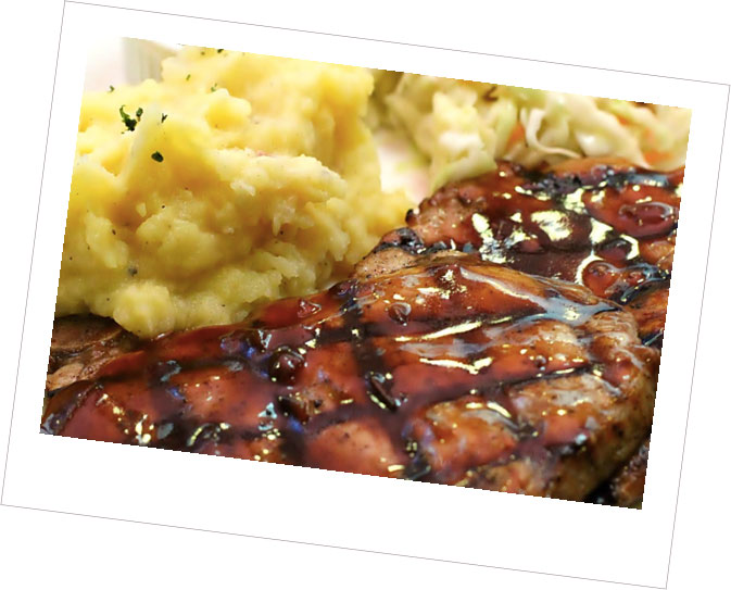 BBQ Pork Chops with a Smoky Sauce