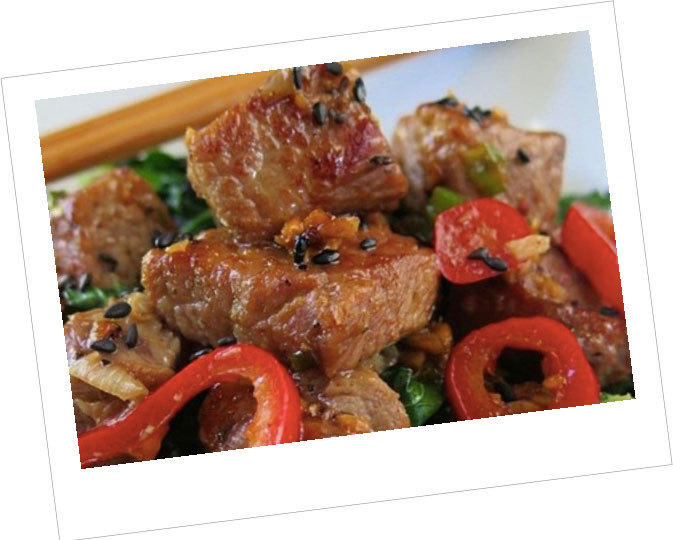 Chinese Pork Chops with Stir-fry